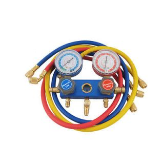 Air Conditioner Refrigerant Manifold Gauge R22 R404A R134A w Hose Set