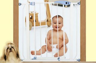 AUTO CLOSE EXPANDABLE BABY PET DOG SAFETY GATE FENCE