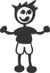 STICK PEOPLE FAMILY #6 MALE SON BOY DAD VINYL AUTO CAR WINDOW DECAL