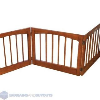 Foldable Double Hinged Shorter 3 Panel Pet Gate 20 1/2H in Rubbed