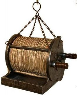 Antique Fishing Reel Bird Feeder, Seed Feeder Wildlife Creations, 4519