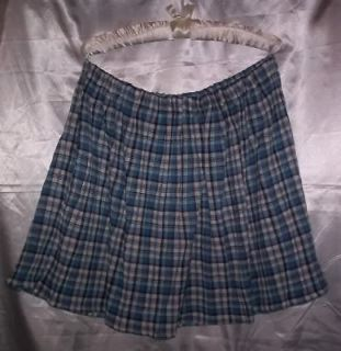 CUSTOM ADULT SISSY WOMENS MENS CD TV FLIRTY BLUE PLAID SCHOOL GIRL