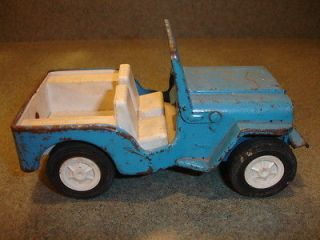 Antique Collectible Pressed Steel & Plastic TONKA Toy Jeep Made In USA