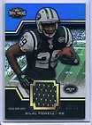 2011 Triple Threads Bilal Powell Player Worn Jersey Card 19/36
