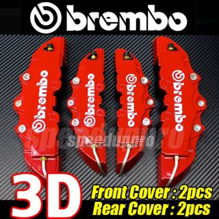 Brembo Style Universal Disc Brake Caliper Covers 4pcs Front and Rear