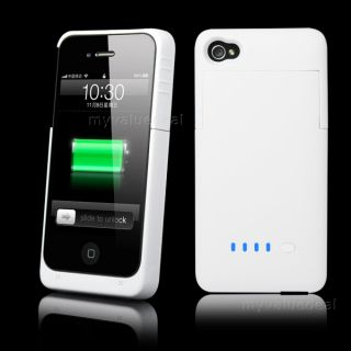 Rechargeable Extended Battery Case Charger for Apple iPhone 4 4S