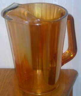 orange carnival glass pitcher in Pottery & Glass