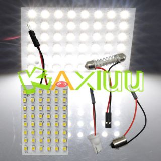 12V Car 48 SMD White LED Light Panel T10 Festoon Ba9s Dome USA Ship