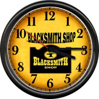 Blacksmith Anvil Farrier Iron Worker Metal Tools Art Sign Wall Clock