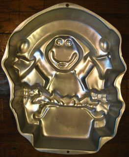 WILTON Cake Pan BARNEY Banner HAPPY BIRTHDAY Name 1998