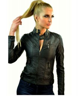 womens leather motorcycle jacket in Coats & Jackets