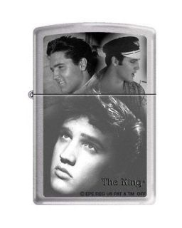 Zippo Elvis Presley The King Brushed Chrome Lighter, Low Ship, 5776