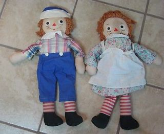 Vintage Raggedy Ann & Andy Johnny Gruelles Own 1947 All Original