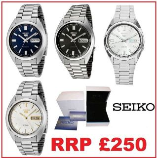 Mens SEIKO 5 Automatic Self Winder Analogue Watch Stainless Steel