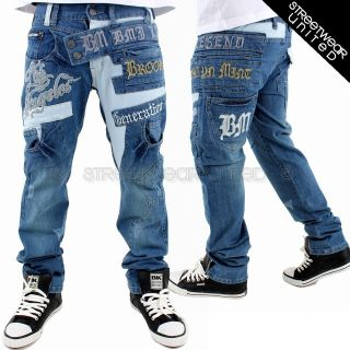 Brooklyn Mint Los Angeles Time Denim Bar Jeans Hip Hop Is Money All