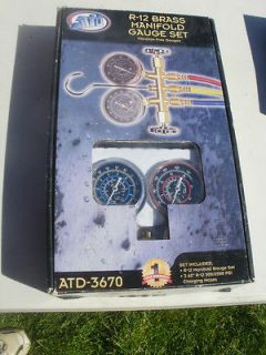 ATD R12 Freon Air Conditioning A/C Gauge Set New in Box
