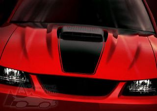 99 04 MUSTANG HOOD SCOOP STRIPE DECAL MACH1 STYLE   MATTE BLACK w