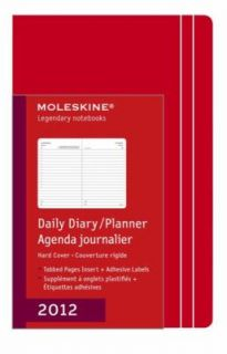 Moleskine 2012 12 Month Daily Planner Red Hard Cover Large by