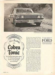 1964 64 FORD FAIRLANE SHELBY COBRA KIT VINTAGE AD