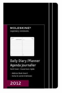 Moleskine 2012 12 Month Daily Planner Black Hard Cover Large by