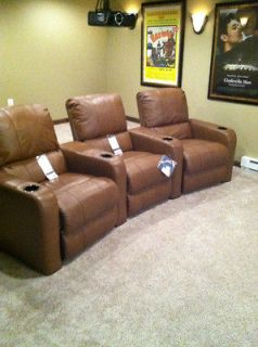Berkline Leather Movie Home Theater Seats Recliners