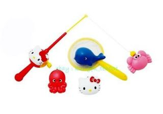 Sanrio Hello Kitty Bathroom Swimming Pool Magnetic Fishing Game SET