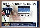 PAUL WILLIAMS   2007 Donruss Gridiron Gear Rookie Prime Jersey RC #d