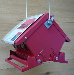Heritage Farms Red Mini Absolute II Squirrel Proof Bird Feeder