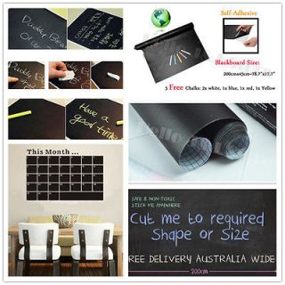 45×200cm Blackboard Removable Vinyl On Wall Paper Sticker Chalkboard