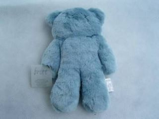 britt snuggles fur small flat teddy bear blue soft toy
