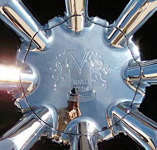 NEW Chrome Vogue SPIDER Wheel CENTER CAP Larger Size Cadillac Escalade