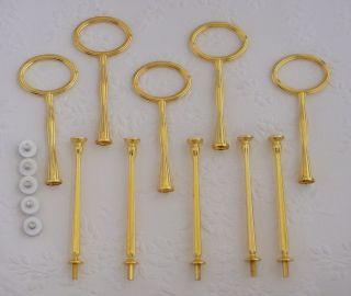 Tier Gold Oval Cake Stand Handles Centre Fitting Hardware for