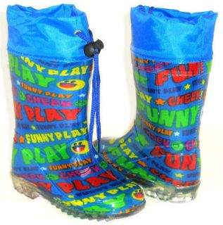 SOoO CUTE Girls Boys Kids Flat GALOSHES WELLIES RUBBER RAIN Boots