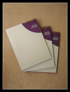 Set of 3 30 x 40 cm Artist White Blank Wall Art Canvas 4 Oil Acrylic