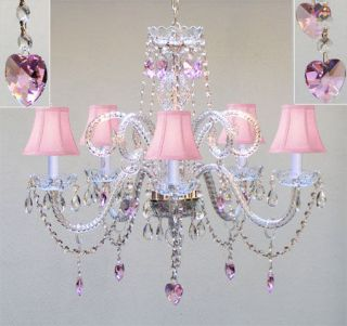 pink chandelier light in Chandeliers & Ceiling Fixtures
