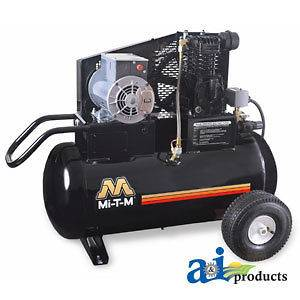 20M Air Compressor, Portable; 2 HP/ 120 V, 18.8 Amp. Electric Motor