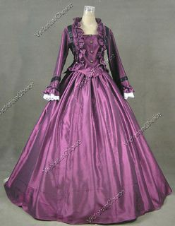 Civil War Victorian Satin Ball Gown Day / Evening Dress Reenactment