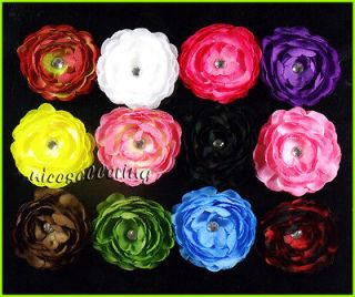 12 PCS Baby Girl Toddler Camellia Flower Hair Clip Bow Weedings CH12
