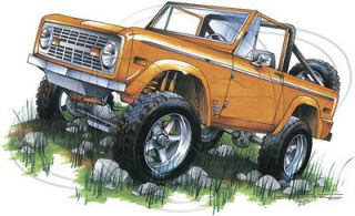 Ford T Shirt Classic Ford Orange Bronco 4 Wheeler Truck Tee Xl White