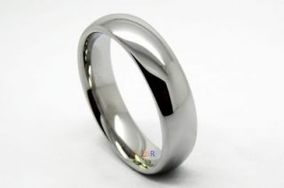 polished Tungsten Engagement Ring Promise Wedding Band Comfort Fit