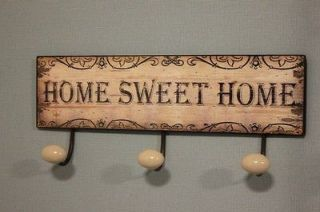 furniture coat hooks wall hooks storage shabby chic hooks metal sign
