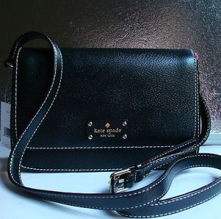 NWT Kate Spade Wellesley Fynn Large Crossbody Leather Purse Bag Black