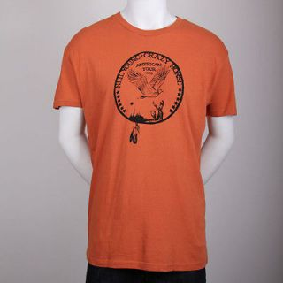 NEIL YOUNG & CRAZY HORSE 1976 Tour Burnt ORANGE T Shirt SMALL ONLY