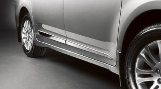 2011   2013 Toyota Sienna OEM Lower Door Moldings, Bright Chrome