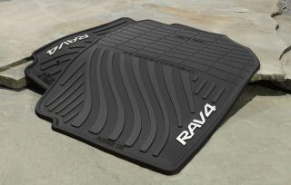 Genuine Toyota Rubber All Weather Floor Mats for 2007 2012 Rav4 New