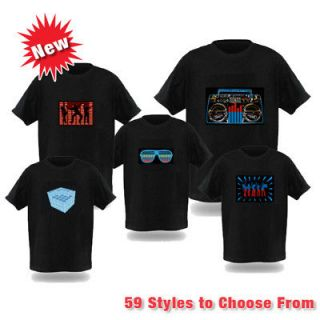 Sound Activate​d LED T Shirt Multiple Styles