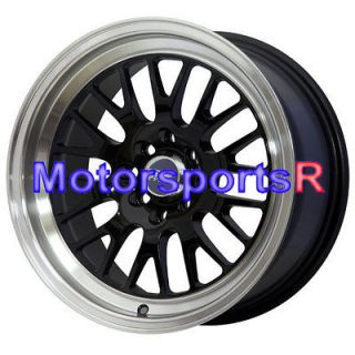 15 15x8 XXR 531 Black Wheels Rims Deep Dish 4x100 4x114.3 4x4.5 Mesh
