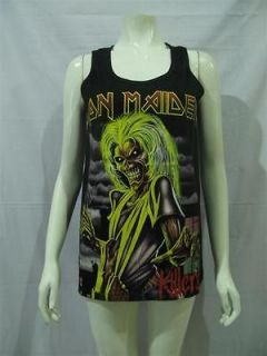 IRON MAIDEN Killers Eddie T Shirt Tank Top Women Sz M