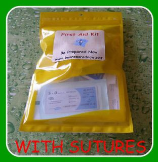 First Aid Kit Medical Supplie Emergency Wound SUTURES packed in