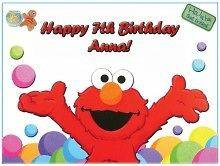 Elmo #3 Edible CAKE Icing Image topper frosting birthday party